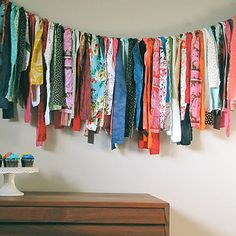 DIY Fabric Garland .... I can see me doing this with Christmas fabric....   from 41 Amazing Free People-Inspired DIYs