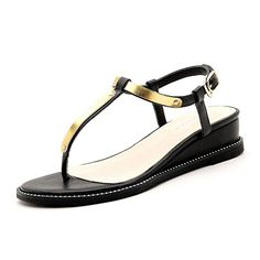FuKeLong Women TStrap Metallic Flat Sandals >>> Check out the image by visiting the link.