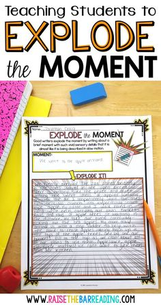 How I Teach Explode the Moment Writing Writing Classes, Writing Lessons, Writing Workshop, Teaching Writing, Writing Skills, Writing Process, Kindergarten Writing, How To Teach Writing, Teaching Ideas
