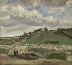 De heuvel van Montmartre met steengroeve, 1886, Vincent van Gogh, Van Gogh Museum, Amsterdam (Vincent van Gogh Stichting)