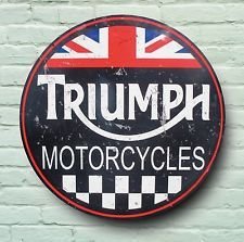 TRIUMPH LOGO 2FT LARGE GARAGE SIGN RETRO OLD LOOK VINTAGE STYLE PLAQUE ROADSTER
