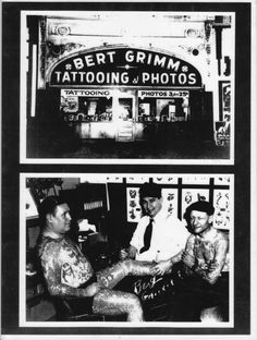Bert Grimm !930's Wish I owned these pictures, they are fantastic. Bert opened a little photography studio next to the tattoo studio, I'm sure there are some great photos of his out there.