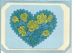 Oh for my Blue Heart Notecard by inkieannie on Etsy