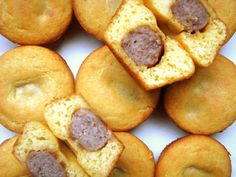 Sausage-Stuffed Corn Muffins  Easy to make with great results, definitely making these again!
