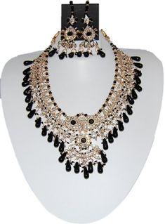 Bollywood Style Indian Imitation Necklace Set / AZBWBR014-GBK Arras Creations http://www.amazon.com/dp/B00IH5NQMO/ref=cm_sw_r_pi_dp_X7yWub173XB25