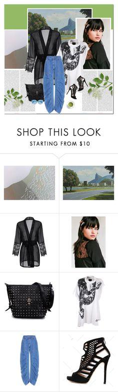 """Green tea"" by undici ❤ liked on Polyvore featuring Oris, NOVICA, Urban Outfitters, Vivienne Westwood Anglomania, STELLA McCARTNEY and Karen Walker"