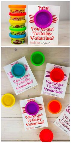 Play Dough Cards | 40 Unconventional DIY Valentine's Day Cards
