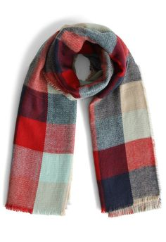 Color My Life Woolen Scarf in Check - scarf - Goods - Retro, Indie and Unique Fashion