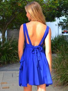 Blue backless dress. #ShopSimple  #GoingOut #fashion