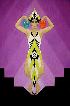 """Presumably Magazine Cover Art for """"The Dance Magazine of Stage and Screen"""", Artist:  Carl Link, 1929 (Dancer: """"Dorsha Hayes"""")"""