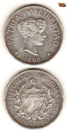 N♡T. 1898 Cuban Silver 1 Peso