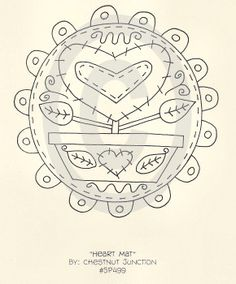 Mat corazón bordado ePattern - Castaño Junction