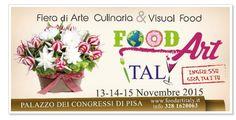 Food Art Italy, Nov. 13-15, 2015, 10 a.m.-10 p.m., in Pisa, Palazzo dei Congressi, Via Giacomo Matteotti 1; Italian gastronomic specialties exhibit, wines, street food, visual food, cooking workshops, guided sampling; free entrance.