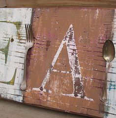 Distressed Eat Sign