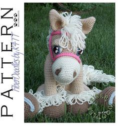 THIS LISTING IS FOR THE PATTERN ONLY and NOT the actual plush toy. Ever since I was a little girl, I have loved horses. For me, they have