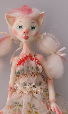 Hey, I found this really awesome Etsy listing at https://www.etsy.com/listing/201975595/kitty-girl-paper-clay-jointed-puppet-art