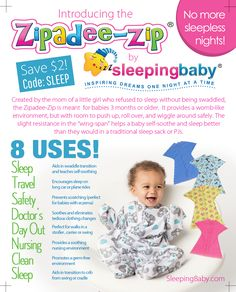 Zipadee-Zip sleeper by Sleeping Baby ||| Canadian Gift Guide