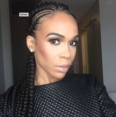 Love these cornrows on @realmichellew - http://community.blackhairinformation.com/hairstyle-gallery/braids-twists/love-cornrows-realmichellew/