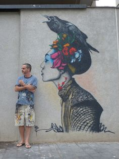 Fin DAC: Non-conformist urban/stencil artist with influences ranging from graphic novels to Francis Bacon/Aubrey Beardsley. Founder/Originator of Urban Aesthetics