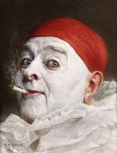 Armand Henrion - Self portrait. Belgian Artist (1875-1958)
