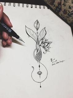 Mermaid mandala tattoo design by Benz.Tattoo Mermaid mandala tattoo design by Benz.Mermaid mandala tattoo design by Benz.I like the alignment down a vertical scrawlhow to tattoo Flower Tattoo Drawings, Small Flower Tattoos, Tattoo Design Drawings, Small Tattoos, Drawing Tattoos, Drawing Flowers, Mandala Flower Tattoos, Tattoo Flowers, Mandala Tattoo Design