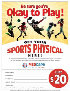 $20 Sports Physicals