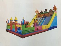 <font><b>Holiday</b></font> Cartoon Inflatable Fun City for kids, Inflatable Amusement Equipment on sale