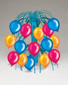 Birthday Balloons Mini Centerpiece 6ct by Creative Converting. $10.75. Bulk by the Case, Birthday Balloons Mini Centerpiece 6ct. For each case you will receive 6 individual packages that contain 1ea. Great for large Birthday Parties, Church Events, Sporting Events, Company Parties, Charity Events and more! You save big when you buy our Party Supplies by the case!