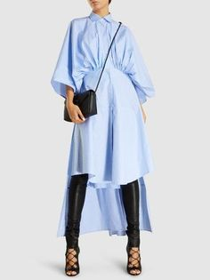 Discover the Gathered-Waist Striped Cotton Shirtdress by Palmer//Harding at The Modist. Fashion Details, Love Fashion, Womens Fashion, Blouse Styles, Blouse Designs, Modest Fashion, Fashion Outfits, Iranian Women Fashion, Cotton Shirt Dress