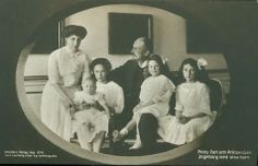 Prince Carl and Princess Ingeborg of Sweden with their children, from left to right: Prince Carl, Princess Margaretha, Princess Astrid and Princess Martha.  Martha went on to be Crown Princess of Norway and Astrid went on to be Queen of the Belgians