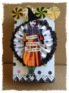 Over the Rainebeau: October! Halloween Paper Crafts, Halloween Tags, Retro Halloween, Holidays Halloween, Happy Halloween, Halloween Decorations, Rustic Halloween, Halloween Greetings, Halloween Ideas