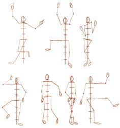 Drawing the human figure in different poses - posing human figure to drawing poses