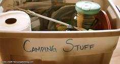 Camping Tips: Using The 4 Camping Tote System