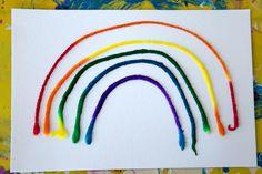 Raised Salt Painting Rainbow