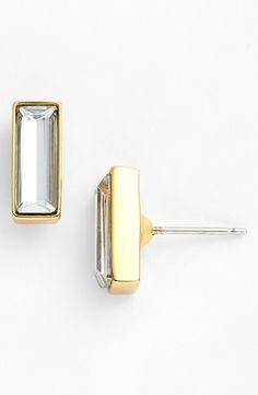 Baguette Crystal Stud Earrings