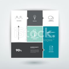 Minimalistic flat tab, diagram, scheme for infographics. royalty-free stock vector art
