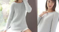 Idéal en toutes circonstances, ce pull tunique en point de jersey est très simple à tricoter. D'une longueur facile à vivre et d'une couleur chic et passe-partout, il fera vite partie ...