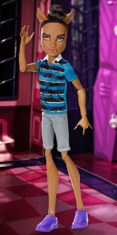 Clawd Wolf from the Wolf Family Walmart Exclusive Monster High Doll 4-Pack (I have him.)
