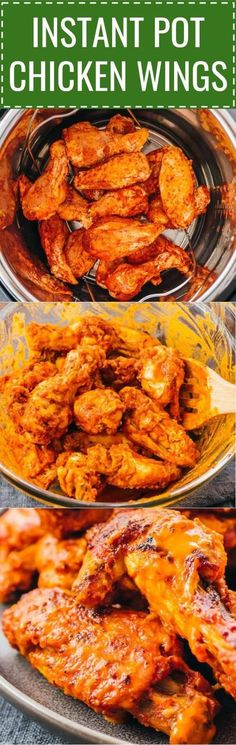 These easy Instant Pot Chicken Wings are hot, spicy, and buffalo flavored! If you don't like buffalo, you can enjoy them plain with no sauce or toss with bbq, ranch, teriyaki, or asian sauces. Before pressure cooking, the wings are seasoned with a dry rub with garlic powder and other spices. They're great for healthy diets like paleo, keto, whole 30, low carb, and gluten free. #lowcarb #keto #instantpot /fresh or frozen / best / pressure cooker recipes / parties