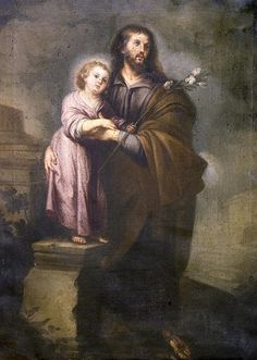 Francisco De Paula Escribano (Sevilla, 1820-1900): San José y el Niño.