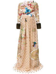 декорированное вечернее платье в горох