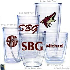 Phoenix Coyotes Personalized Tervis Tumblers