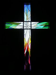 stained glass cross | Flickr - Photo Sharing!