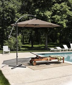 Cantilever 10' Umbrella Relax Outdoors under a Cool Outdoor Umbrella Item # 62496 http://pinterest.com/jjwa/favorite-places-spaces/