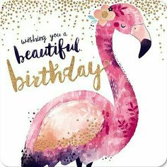 Best Birthday Quotes : QUOTATION – Image : As the quote says – Description Kaart – Verjaardagskaart Flamingo Goud Confetti – Greetz Birthday Wishes Quotes, Happy Birthday Greetings, Birthday Messages, Flamingo Happy Birthday, Birthday Fun, Card Birthday, Birthday Blessings, Happy Birthday Pictures, Happy B Day