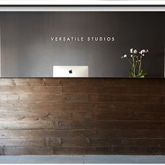 Reclaimed Wood/steel top reception desk