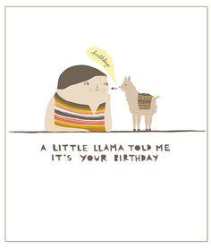 Kleines Llama-Grußkarte