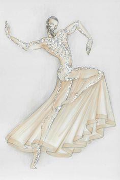 A sketch of a Riccardo Tisci design for the ballet Boléro [Courtesy photo]