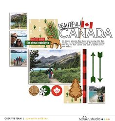 Beautiful Canada digital scrapbooking layout created by lynnette featuring Project Mouse (World): Canada by Sahlin Studio and Britt-ish Designs