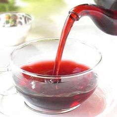 Hibiscus tea is made from deep red calyxes of the hibiscus flower that is rich in anthocyanins, fruit acids, vitamins, minerals, amino acids, and bioflavonoids. Hibiscus tea is excellent for boosting the immune system and fighting off infections. Traditionally, hibiscus tea was regarded by the egyptian pharaohs to be royalty's most important beverage as it was known to improve health and vitality.